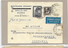 Spain Aereo, Par Avion Mif. 1936 To Alemania - 1931-Today: 2nd Rep - ... Juan Carlos I