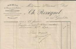 ROYAN CH ROSSIGNOL ARMES DE CHASSE ET SALON MUNITIONS FABRICATION DE CARTOUCHES A POUDRES NOIRES PYROXYLEES ANNEE 1913 - Non Classés