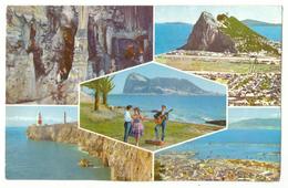 Postcard. Gibraltar 5 Views. Stamps. Postmark. 1964. - Gibraltar