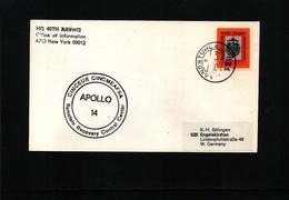 Germany / Deutschland 1971 Space / Raumfahrt Apollo 14 Ramstein Recovery Control Center Interesting Cover - Briefe U. Dokumente
