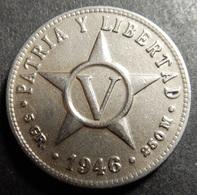 Cuba 5 Centavos 1946 Very High Grade - Cuba