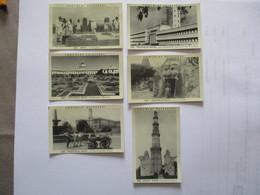 6 IMAGES CHOCOLAT DELESPAUL N°563 à 568 DEHLI, NOUVELLE DEHLI LE RAJGHAT,RASHTRAPATI,LA SECRETAIRE D'ETAT,TEMPLE BIRLA - Vieux Papiers