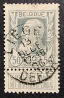 N. 78, 50 Cent Gris, Obl. Liege Depart 13/12/1906 - 1905 Grosse Barbe