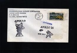 USA 1971 Space / Raumfahrt  Apollo 14 Hawaii Observing Station Interesting Cover - Briefe U. Dokumente
