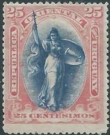 URUGUAY 1895 Liberty 25c, Hinged,not Used - Uruguay