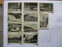 10 IMAGES CHOCOLAT DELESPAUL N°538 à 542,545 à 548,550 BELGIQUE LIEGE,COO,BASTOGNE,BOUILLON,HAN,DINANT,NAMUR,HUY,CHARLER - Vieux Papiers