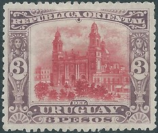 URUGUAY 1897 - 3p Violet-Rosa , Hinged,Not Used - Uruguay