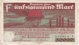 BILLETE DE ALEMANIA DE 50000 MARK DEL AÑO 1923 (BANKNOTE) - 1918-1933: Weimarer Republik