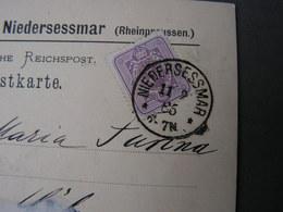 Gummersbach , Niedersessmar Karte Nach Köln 1885 - Storia Postale