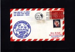 USA 1969 Space / Raumfahrt  Apollo 10 Support USNS Mercury Interesting Cover - Briefe U. Dokumente