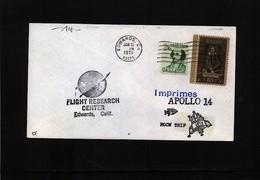 USA 1971 Space / Raumfahrt  Apollo 14 Edwards Flight Research Center Interesting Cover - Briefe U. Dokumente