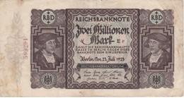 BILLETE DE ALEMANIA DE 2000000 MARK DEL AÑO 1923 (BANKNOTE) - [ 3] 1918-1933 : Repubblica  Di Weimar