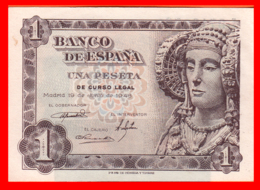 ESPAÑA BILLETE DE 1 PESETA 19 DE JUNIO DE 1948. SERIE ,, L 07130560 ,, - 1-2 Pesetas