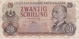 BILLETE DE AUSTRIA DE 20 SCHILLING DEL AÑO 1956 (BANKNOTE-BANK NOTE) - Autriche