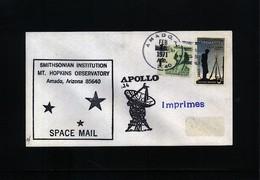 USA 1971 Space / Raumfahrt Apollo 14 Amado Mt.Hopkins Observatory Interesting Cover - Briefe U. Dokumente