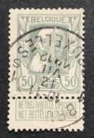 N. 78, 50 Cent Gris, Obl. Bruxelles 12/7/1912 - 1905 Grosse Barbe