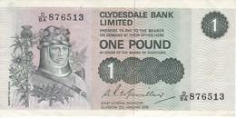 BILLETE DE ESCOCIA DE 1 POUND DEL AÑO 1979  (BANKNOTE) - [ 3] Escocia