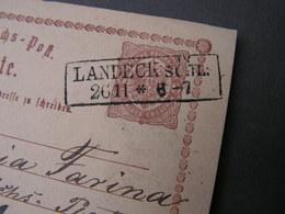 DR Karte Schlesien , Glatzer Land  Laneck .. Kastenstempel 1873 - Brieven En Documenten