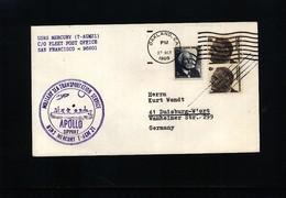USA 1969 Space / Raumfahrt  Apollo Support USNS Mercury Interesting Cover - Briefe U. Dokumente