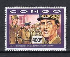 CONGO - 1991 The 100th Anniversary Of The Birth Of Charles De Gaulle, 1890-1970   M506 - Congo - Brazzaville