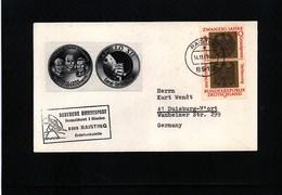 Germany / Deutschland 1969 Space / Raumfahrt  Apollo 12 Raisting Earth Station Interesting Cover - Briefe U. Dokumente