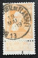 N. 79, 1 Fr. Jaune-orange, Obl. Bruxelles (Porte De Flandre) 19/5/19??, NIPA 50 - 1905 Grosse Barbe