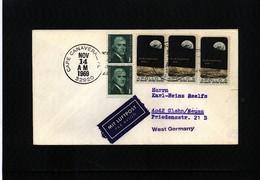 USA 1969 Space / Raumfahrt  Apollo 12 Interesting Cover - Briefe U. Dokumente