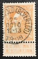 N. 79, 1 Fr. Jaune-orange, Obl. Bourg-Leopold (Beverloo) 25/10/1906, NIPA 80 - 1905 Grosse Barbe