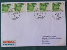 Taiwan 2017 Cover To Nicaragua - Fruits - Briefe U. Dokumente