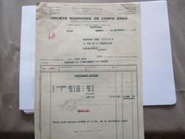 YAINVILLE SAVONNERIE SOCIETE NORMANDE DE CORPS GRAS FACTURE ET COURRIER DU 10 NOVEMBRE 1941,AVIS D'EXPEDITION,COURRIER 1 - France