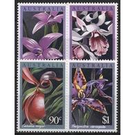 Australien 1986 Orchideen 997/00 Postfrisch - 1980-89 Elizabeth II