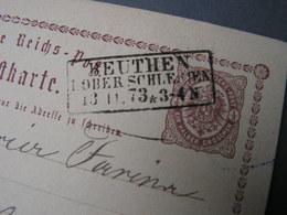 DR  Karte Polen Beuthe  Schlesien 1873 - Brieven En Documenten