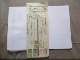 LA VALLEE AUX BLEDS AISNE SANDRA & FILS BOIS DE CONSTRUCTION & D'INDUSTRIE TRAITE DU 28 MARS 1933 TIMBRES FISCAUX - France