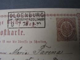 DR  Karte Oldenburg  1874 - Deutschland