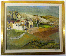 QUADRO _ A Firma SERGE LUBIN (1916-1985) _ Village D'... _ OLIO SU TELA _1961 - Olii