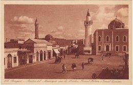 LIBIA - Bengasi /  Piazza Del MMunicipio Con Le Moschee - Libia