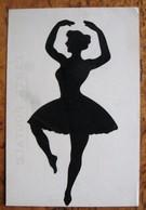 Cpa SILHOUETTE Découpée Carte Animée LAMBERT Danseuse Classique Femme - Femmes