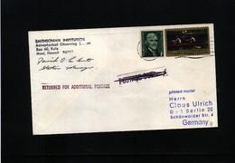 USA Space / Raumfahrt  Smithsonian Institute Maui Hawaii Interesting Cover - Briefe U. Dokumente