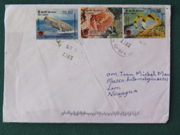 Sri Lanka 2017 Cover To Nicaragua - Fishes - Whale - Corals - Sri Lanka (Ceylan) (1948-...)