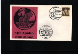 Germany / Deutschland 1969 Space / Raumfahrt Apollo 11 Interesting Cover - Briefe U. Dokumente