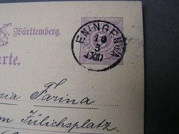 DR  Karte Eningen  1884 - Cartas