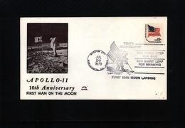 USA 1979 Space / Raumfahrt 10th Anniversary Of The Moon Landing Interesting Cover - Briefe U. Dokumente