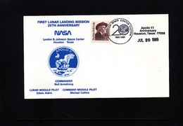 USA 1989 Space / Raumfahrt 20th Anniversary Of The Moon Landing Interesting Cover - Briefe U. Dokumente