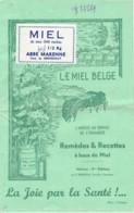 Rochehaut Le Miel Belge Remedes Et Recettes  Abbé Curé Marenne  8 Pages 140X220mm - Bouillon