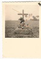 WW2 PHOTO ORIGINALE Tombe Soldat Allemand Mai 1940 Entre Menin & Courtrai  BELGIQUE BELGIË - 1939-45