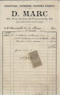 ROCHEFORT  SUR MER D MARC PEINTURE VITRERIE PAPIERS PEINTS ANNEE 1904 - Non Classés
