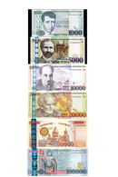 ARMENIA 1000, 5000, 10000, 20000, 50000, 100000 DRAM BANKNOTES FULL SET UNC RARE - Arménie
