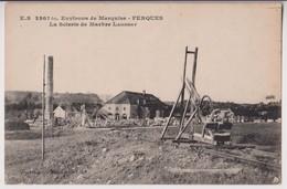 FERQUES (62) ENVIRONS DE MARQUISE : LA SCIERIE DE MARBRE LAMBERT - ECRITE EN 1927 - 2 SCANS - - Sonstige Gemeinden