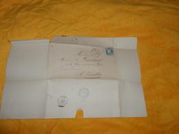 LETTRE SANS CORRESPONDANCE ANCIENNE DE 1874. / CACHET A IDENTIFIER LE PALAIS ?...A VERSAIL+ TIMBRE + OBLITERATION GC ?.. - 1849-1876: Classic Period