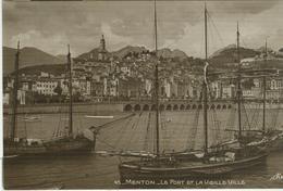 Menton - Le Port Et La Vieille Ville, B/N - N/V - Menton